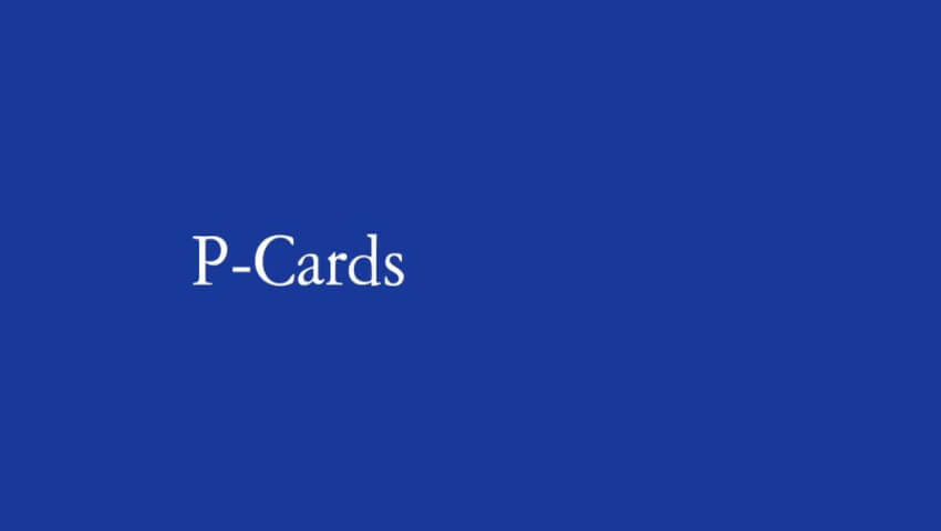 Agent Credit Cards: P-Cards
